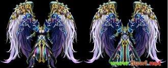 银色天使紫绒铠甲传奇衣服素